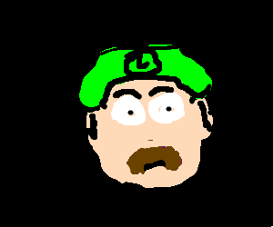 Luigi stares into the abyss of the self.