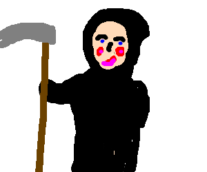 The grim reaper used to much make up
