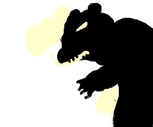 Ambiguous and sinister bear shadow?