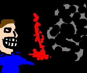 Jack Shepard rips arm off of Smoke Monster