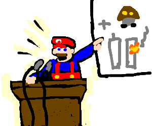 Mario try's to cover up the Goomba genocide