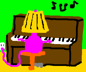 lamp play a piano