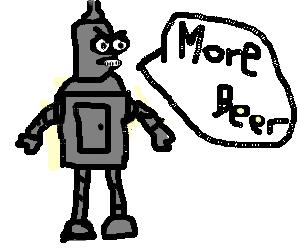 Bender needs booze