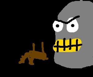 Angry Bender demanding more deer for sacrifice