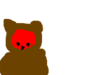 A red panda disguised as a bear
