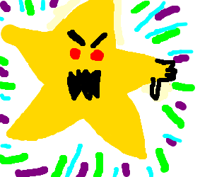 a very bright and angry star condemns you.