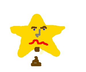A angry star take a shit