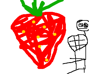 Lacrosse Player encounters Mutant Strawberry