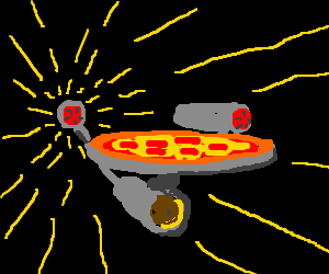 Image result for pizza spaceship