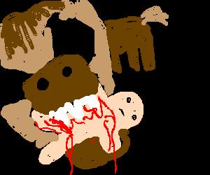 A killer pony eats a baby