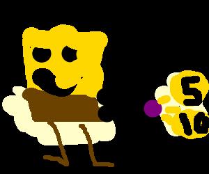 Spongebob's jizz consists of coins