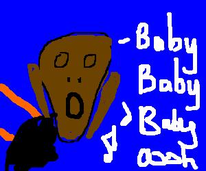 "Munch's ""The scream"" Justin Bieber style"