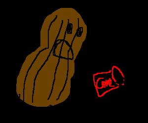 Peanut man runs too fast and spills coke