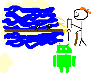 moses uses splitsea-app on his android-phone