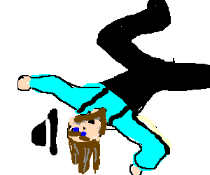 Break dancing Amish dude