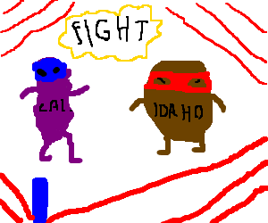 Battle Royal: California Rasin vs Idaho Potatoe