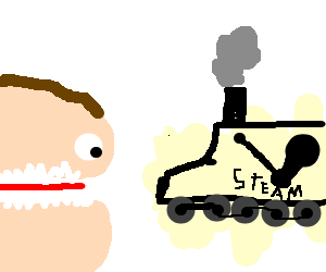 Clifford eats a Steam Locomotive