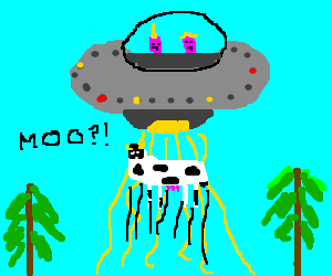 Aliens abduct cow