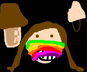 rainbow faced girl objects!