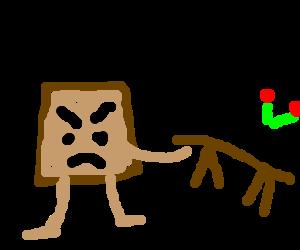 Furious toast flips table
