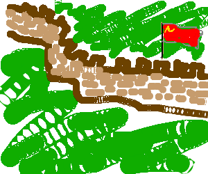 the poorly depicted wall of china