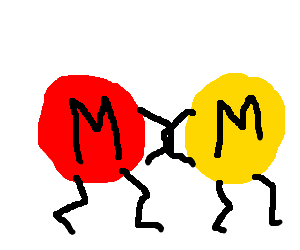 Red and yellow M&Ms are now partners !