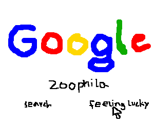 'zoophila' being typed into google