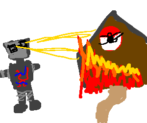 Nerd robot destroy a gym!
