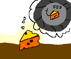 Piece of cheese wants to be 007