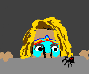 The Ultimate Warrior enjoys watching spiders