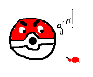 pokéball crossed with a bug