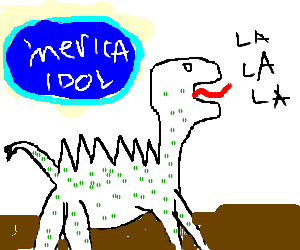 Dinosar singing in american idol