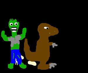 Zombie raptor jesus.