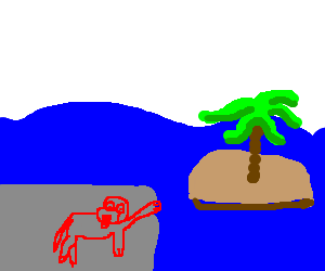 "Clifford the Red Dog finding the ""Lost"" island"