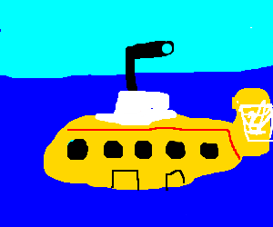 We all live in a yellow submarine...