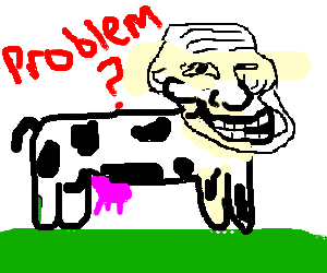 cow with trollface