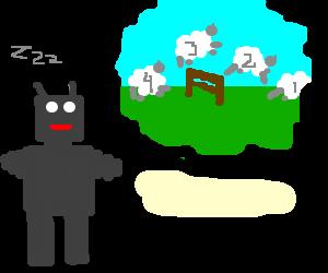 Robot counting sheep