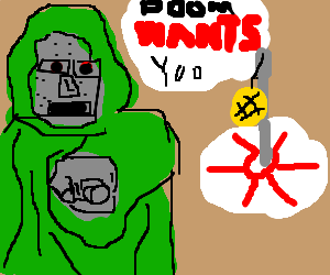 Dr Doom needs YOU for tetherball doubles