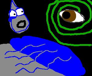 Bipolar water droplet contemplates future