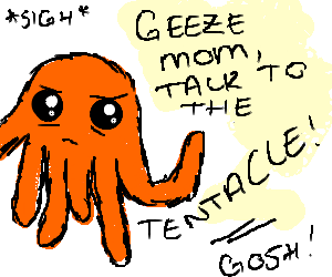 Apathetic Octopus gets scolded.
