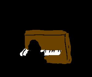 Darth Vader takes Piano lessons