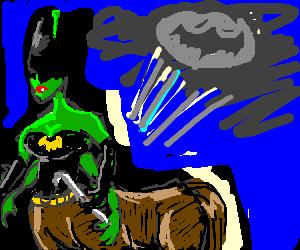 Female Batman alien minotaur 4arms 3 hands 1iron