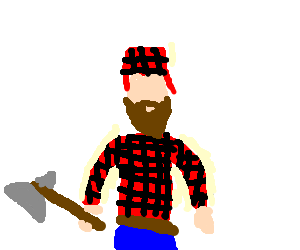 Typical Canadian lumberjack