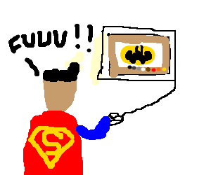 Superman jealous of Batmans drawception fame