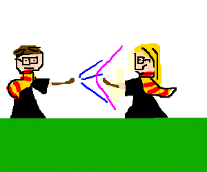 Harry Potter duels with girl version of himself