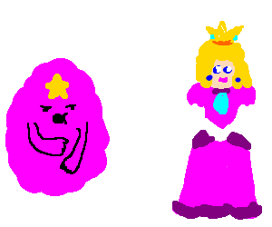 Lumpy Space Princess and Princess Peach