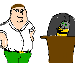 Peter Griffin with Bee Mayor