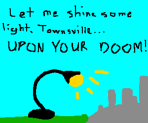 Giant floodlight destroying Townsville