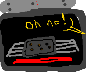 Oh no I burnt the cookies again :(
