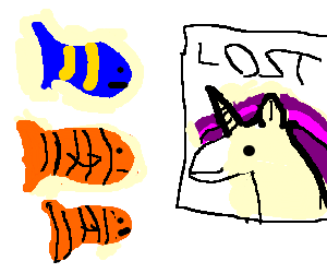 Nemo and father search for a unicorn